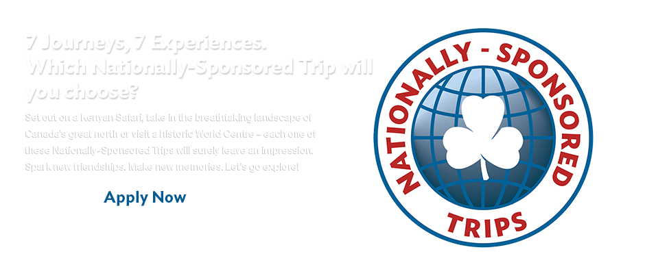 Nationally Sponsored Trips applications are now open
