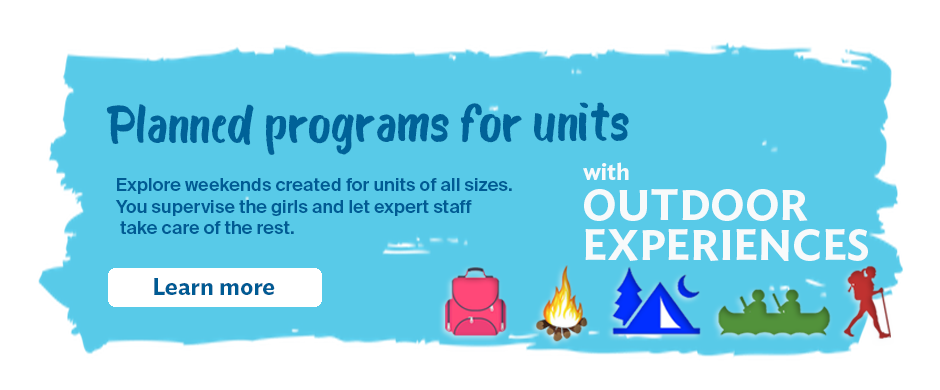 Planned programs for units with Outdoor Experiences
