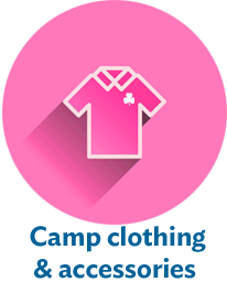 Camp clothing and accessories are available for purchase