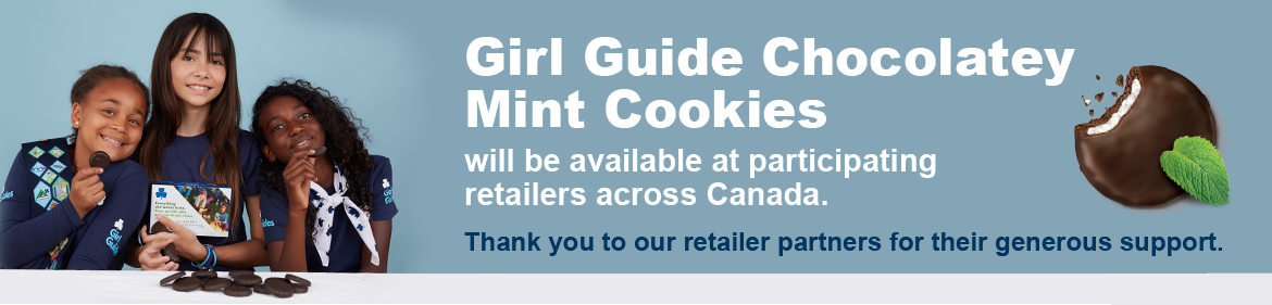 Girl Guide chocolately mint cookies will be available at participating retailers across Canada.