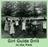 Girl Guides Drill in the Park