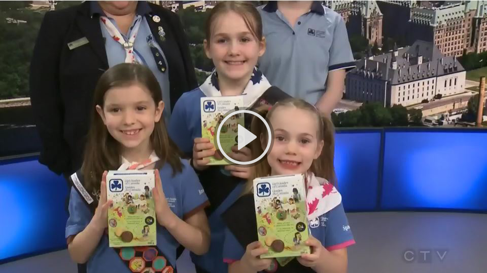 Girl Guides of Canada Cookie selling on CTV